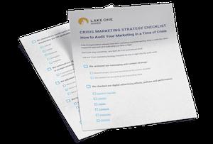 marketing in a crisis checklist