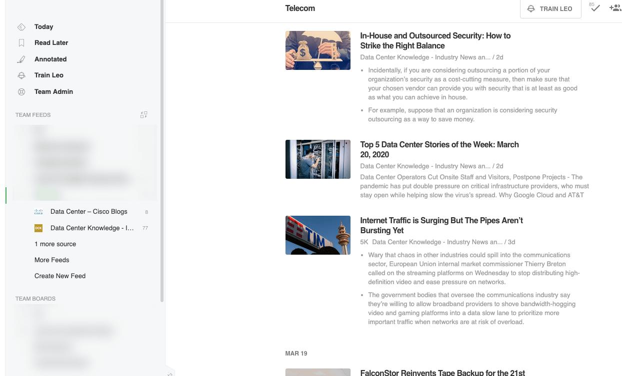 Manufacturing news monitoring