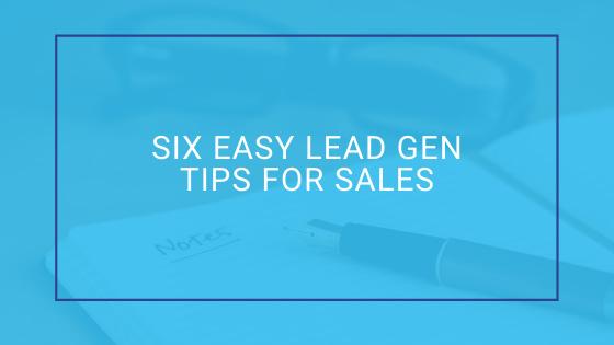 easy lead gen tips