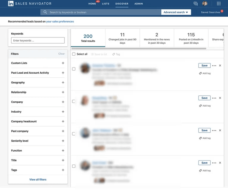 manufacturing lead generation with LinkedIN
